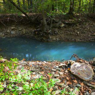 blue swimming hole at Cedar Creek on OHT