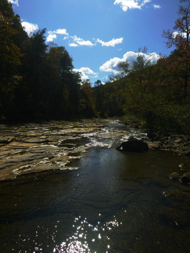 Hurricane Creek on OHT in sunshine