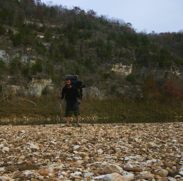 Buffalo National River selfie on wading day
