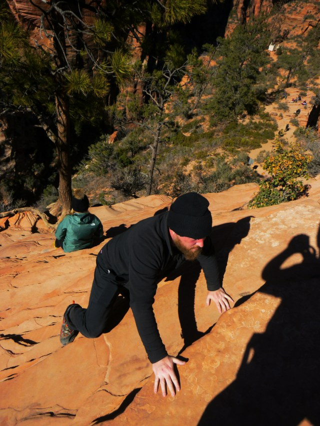 Daniel almost made it up Angels Landing