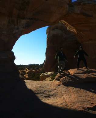 Daniel and I at Arches timed