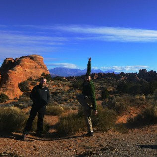 Daniel and I pose after hike through Arches