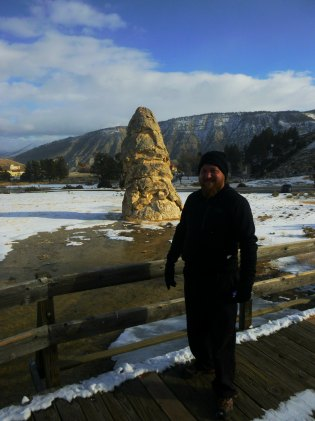 Daniel at Mammoth Cone Yellowstone