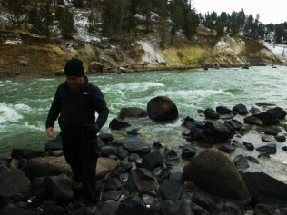Daniel by Yellowstone River Facing