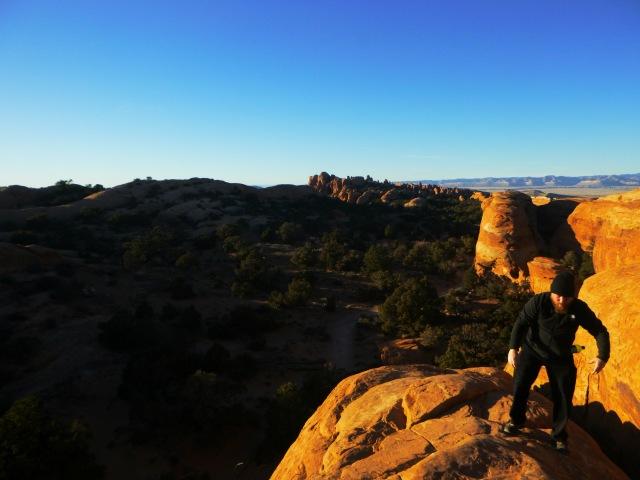 Daniel over Navajo Arch