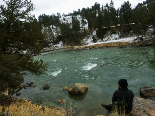 Daniel overlooking Yellowstone River