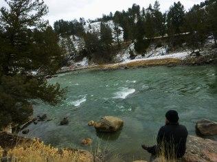 Daniel overlooking Yellowstone River