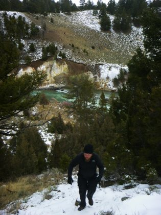 Daniel up Mountain by Yellowstone River