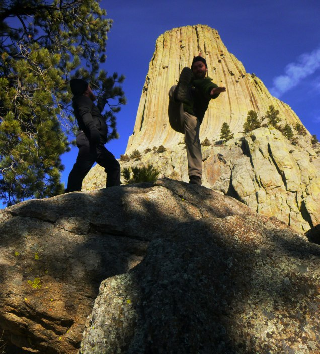 Devils Tower spartan kick