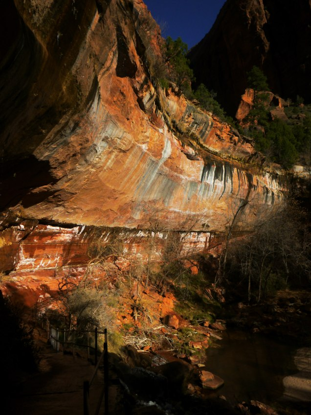 Emerald Pools Lower Falls in Zion
