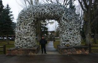 Jackson Hole Elk Arch with Daniel