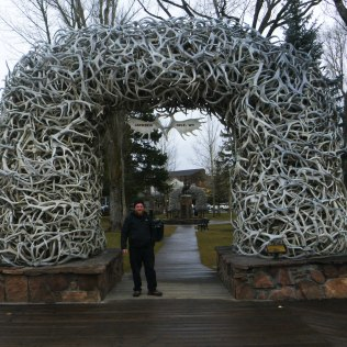 Jackson Hole Elk Arch with Daniel