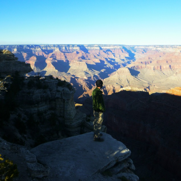 Looking out at Grand Canyon
