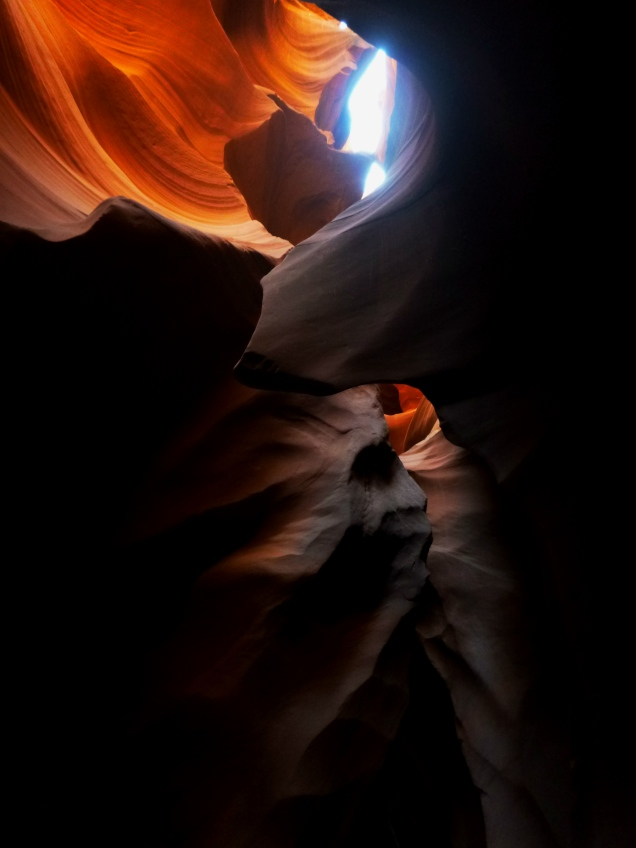 Looking up from Lower Antelope