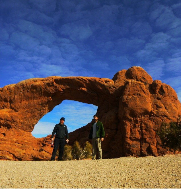 Me and Daniel at Arches timed