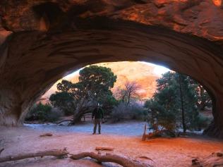Me beneath Navajo Arch