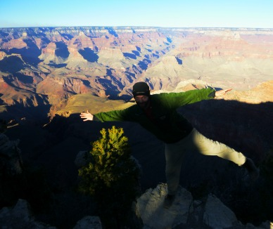 Posing at Grand Canyon