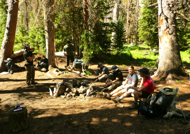 Relaxing Around Camp at Willow Lake
