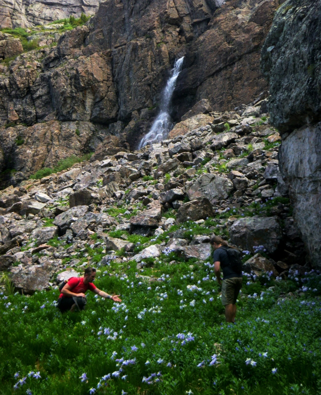 Schoeppe and Wolf at the Willow Lake Falls