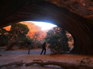 Timed at Navajo Arch