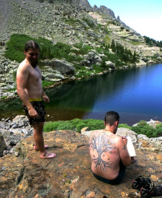 Wolf and Schoeppe on Willow Lake Falls