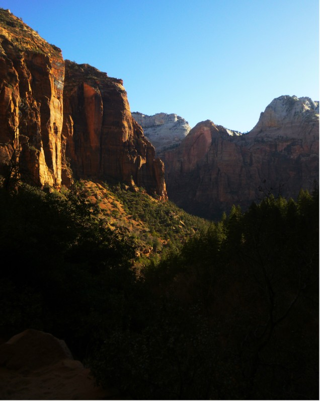 Zion view from Emerald Pools
