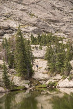 Me hiking to Willow Lake Falls